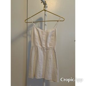 Reformation linen dress size 2 white